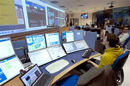Inside the ATLAS control room