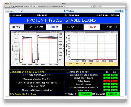 Screenshot of LHC Page 1