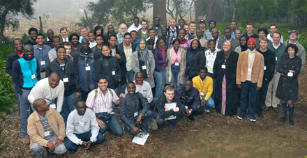 Participants of the School of African Physics gathered together